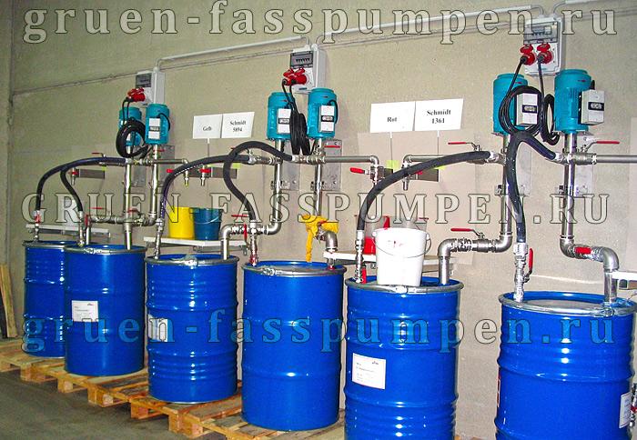 Шнековые насосы Gruen Pumpen в лакокрасочном производстве